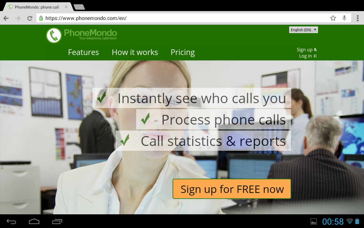 PhoneMondo - Cloud CallerID- screenshot
