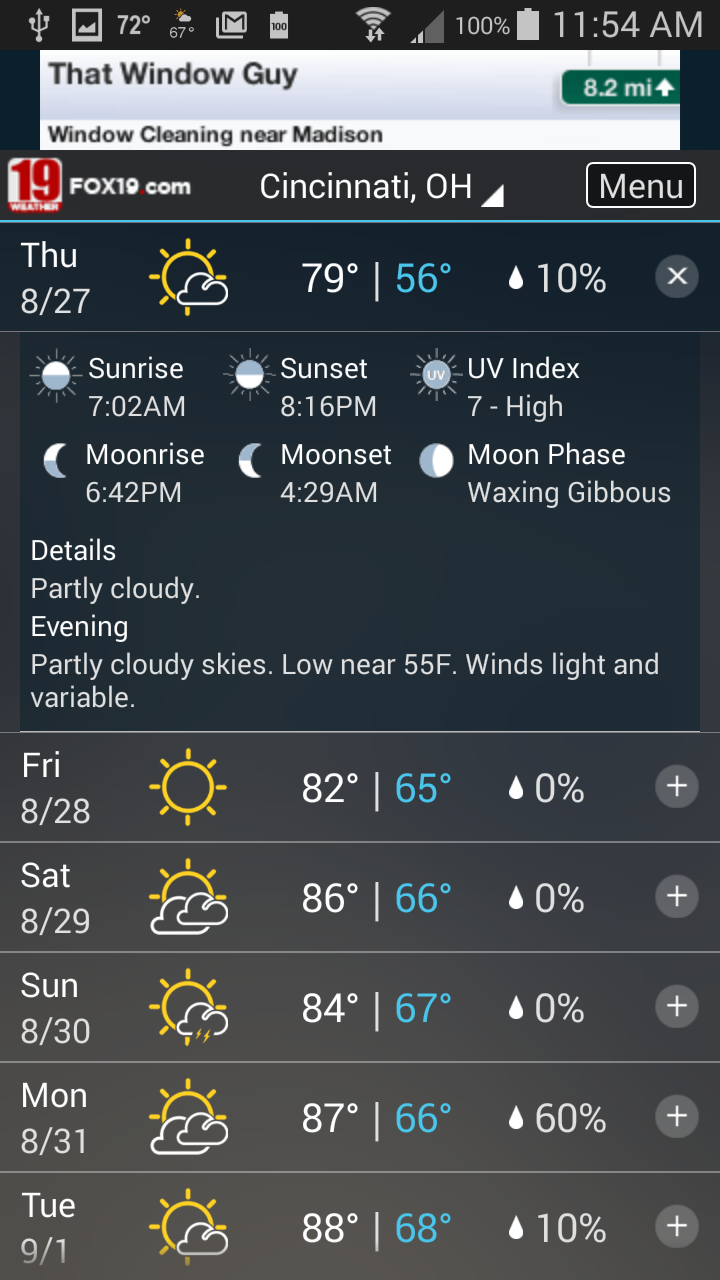 FOX19 NOW Cincinnati Weather (Android) reviews at Android Quality Index