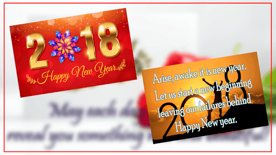 2018 New Year Greeting cards - náhled