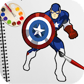 Superhero Coloring Book Pages: Kids Coloring Games