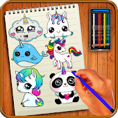 11.  Learn to Draw Cutest Unicorns