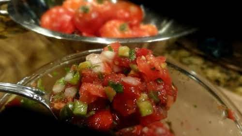 "Spanish Salsa - Bonnie's ""It is made with all fresh ingredients and..."
