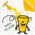 Dog Glass Happy Draw Lines icon