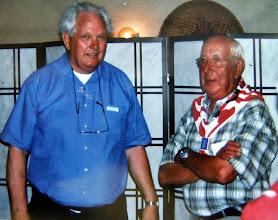 Photo: VCJC 2004, links Jan Rabs en rechts Hendrik Hoving. Jan Rabs heeft die dag van het gebeuren een film gemaakt.