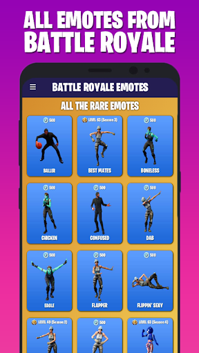 Download Emotes & Skins of Battle Royale ud83dudc83 (+ Season 7) MOD APK 9