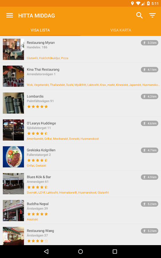 Gastrogate restaurangguide- screenshot