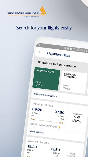 singapore airlines screenshot 1