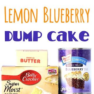 Crock Pot Lemon Blueberry Dump Cake