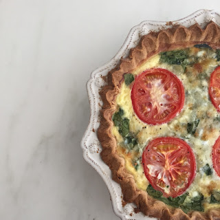 Spinach and Tomato Quiche