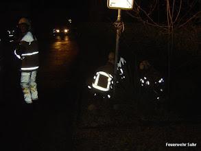 Photo: Atemschutztrupp macht sich bereit.