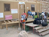 Photo: here we dropped off our gear to be brought down by the horses so we don't have to carry it for 10 miles