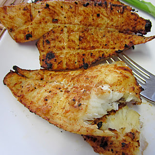 Southwestern Style Grilled Flounder.