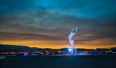 """Photo: The Lady Dances  Here is one of my favorite new pieces of art from Burning Man this year - this sculpture is called """"Truth is Beauty"""" -- wonderful..."""
