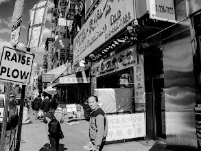 Photo: Bowery afternoon Chinatown, New York City March 2013 www.leannestaples.com #newyorkcityphotography  #blackandwhitephotography  #streetphotography +Arnold Goodwayfor #streetpics  #shootthestreet  #ricohgxr