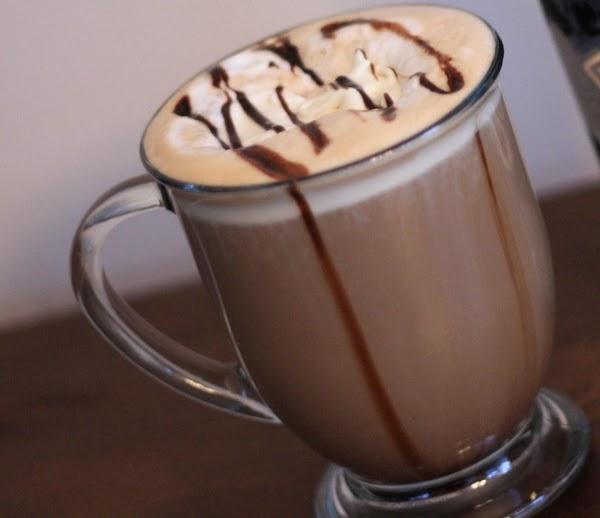 Pour espresso shot in bottom of coffee mug. Add Bailey's  Irish Cream and...