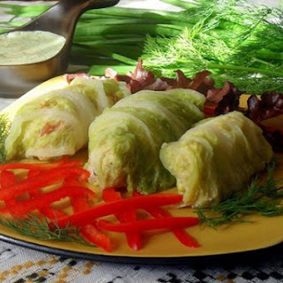 Stuffed cabbage leaves in Chinese cabbage
