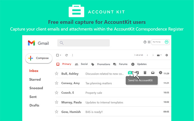 AccountKit Add-on for Gmail