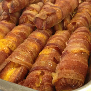 Stuffed Bacon Wrapped Dogs.