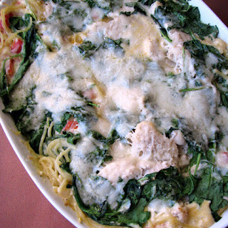 Baked Pasta Romana with Chicken.