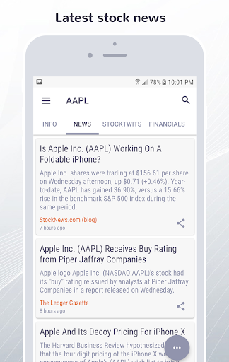 FinWiz-Stocks, News, Investing,Portfolio & Markets  screenshots 5