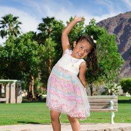 Happy Girl by Jeffrey Martin - Babies & Children Child Portraits ( outdoor, happy, family photos, girl, park )