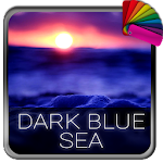 Dark Blue Sea Theme for Xperia Icon