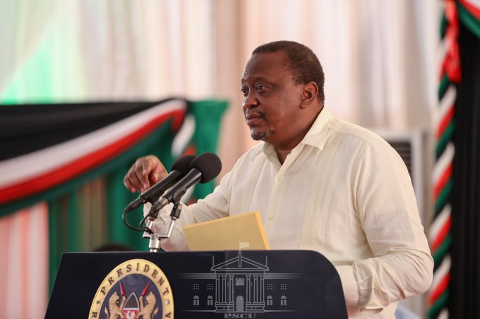 President Uhuru Kenyatta speaks at the Health Sector Intergovernmental Forum on Universal Health Coverage in Mombasa County on October 31, 2020.