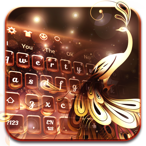 Gold peacock Keyboard
