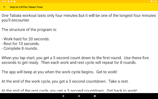 LiftThis Tabata Timer App Report on Mobile Action - App Store