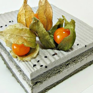 Black Sesame Yoghurt Mousse Cake