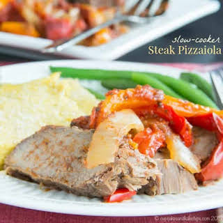Super Simple Slow Cooker Steak Pizzaiola.