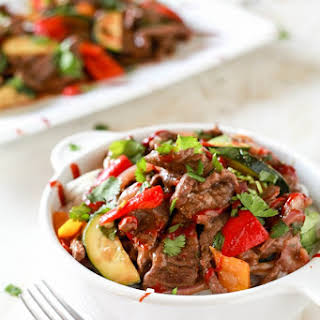 """Spicy Pepper Steak """"Take-Out""""."""