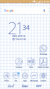 Sheet of notebook | Xperia™ Theme + icons 3.0.001 PAID 2