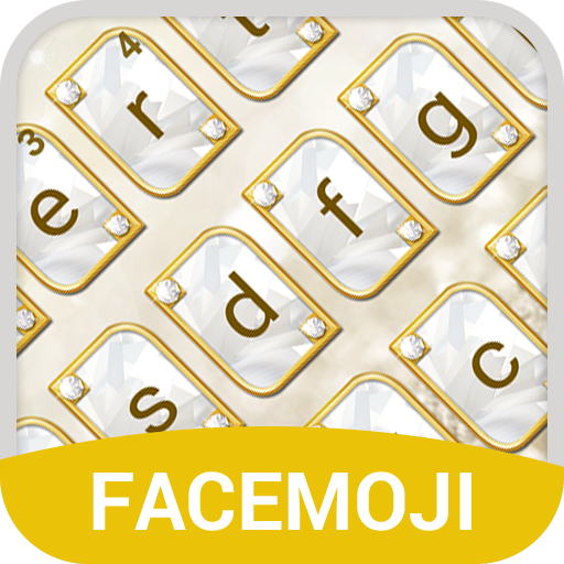 Gold Diamond Emoji Keyboard Theme for Messenger