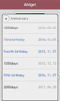 Screenshot of Baby birth calculation widget