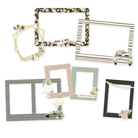 Simple Stories Chipboard Frames 6/Pkg - Happily Ever After