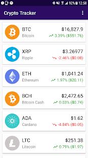 CryptoTracker - XRP, BTC, ETH, LTC, BCH, XMR, XVG - náhled