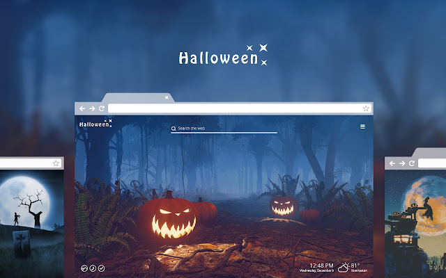 Halloween HD Wallpaper New Tab Theme