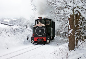 Santa takes to the rail tracks