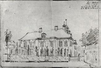 Photo: 1777 Huize of kasteel Bosdal aan de zuidzijde.