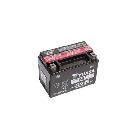 YUASA MC batteri YTX9-BS LxBxH: 150x87x105mm