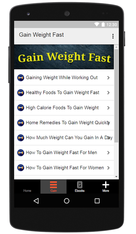 How to gain weight fast android apps on google play how to gain weight fast screenshot ccuart Choice Image