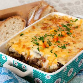 Cheesy Beef Casserole.