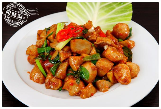 阿杜皇家泰式料理菜單辣炒杏鮑菇