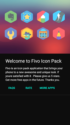 Fivo - Icon Pack Appar för Android screenshot