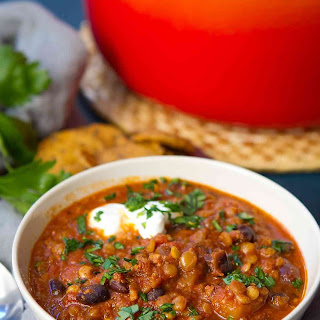 Chorizo & Butternut Squash Lentil Soup.
