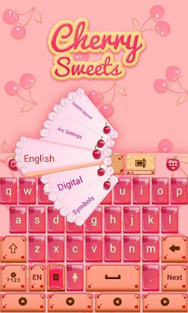Cherry Sweet GO Keyboard Theme 3.87 screenshot 1282609