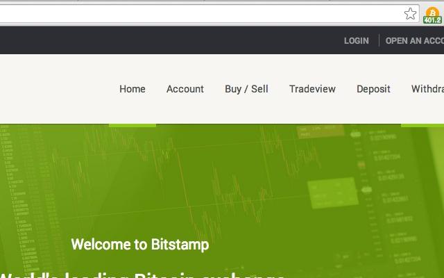 Bitstamp BTC price