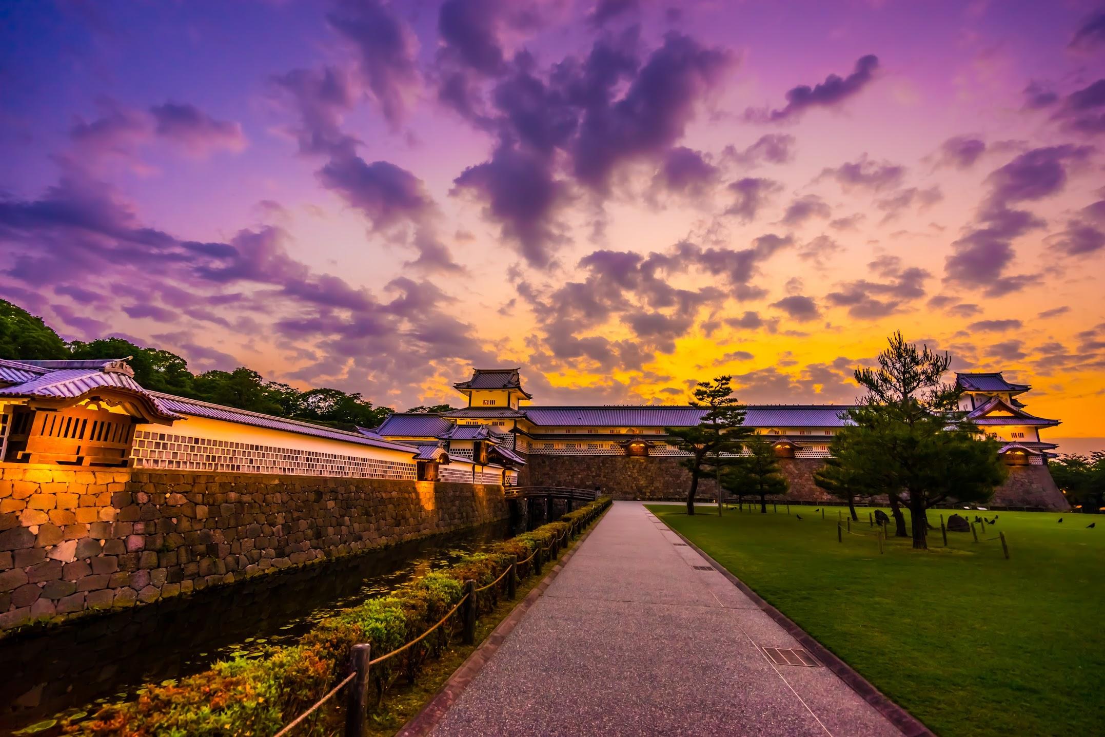金沢城公園 夕景3