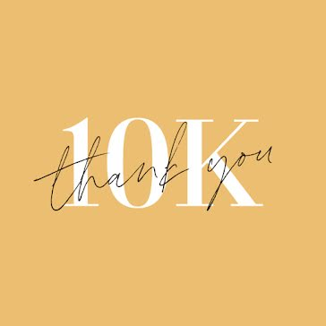 10k Thank You - Instagram Post Template